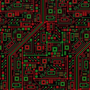 Merry Robot Circuits (Dark Small)