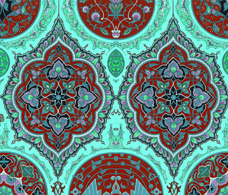indo-persian 326 fabric by hypersphere on Spoonflower - custom fabric