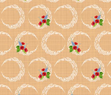 Paper Moon Peach fabric by katebillingsley on Spoonflower - custom fabric