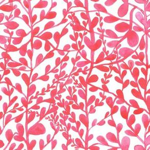 leaf design pink