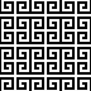 Greek Key - Black
