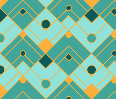 Art Deco Dream fabric by shushuinshanghai on Spoonflower - custom fabric
