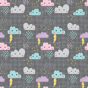 Stormclouds in dark grey
