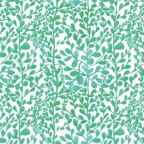 spring floral green