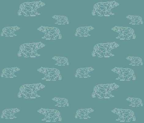 polar bears linear fabric by sarahcuyckens on Spoonflower - custom fabric