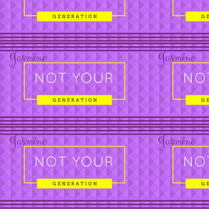 official Not your generation fabric