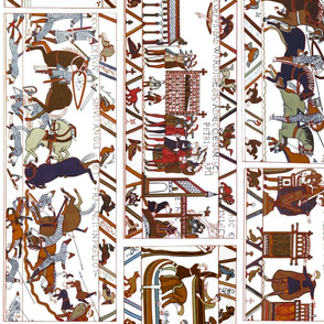 Bayeux Tapestry railroad/border white
