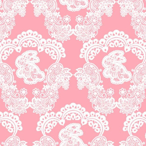 Pink Bunny Lace