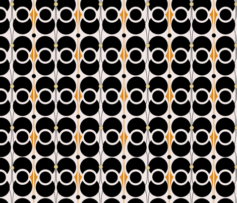 Art Deco Circles in repeat fabric by dora_yvonne_textiles on Spoonflower - custom fabric