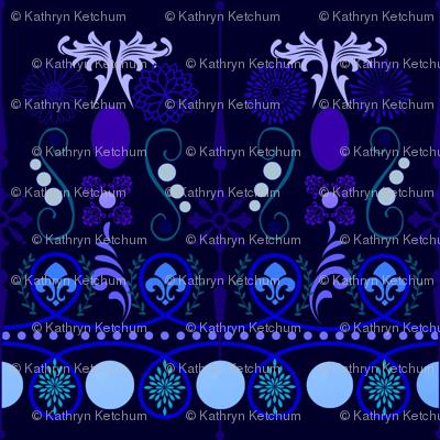Swirls in all Shades of Blue
