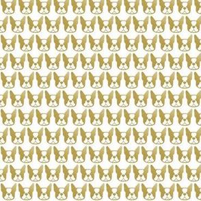 Mini Boston Terrier in gilded metal