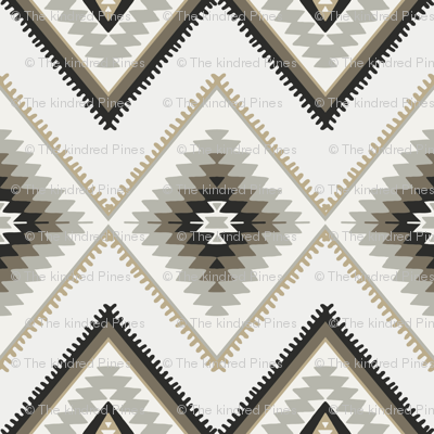 Brown and beige aztec southwestern
