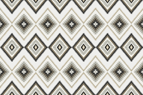 Brown and beige aztec southwestern fabric by thekindredpines on Spoonflower - custom fabric