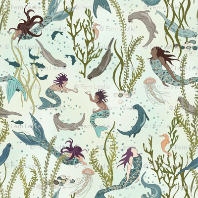 Mermaids and Otters - Large Scale - Jumbo