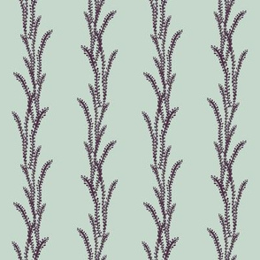 Seaweed Lines - Purple, Light Mint