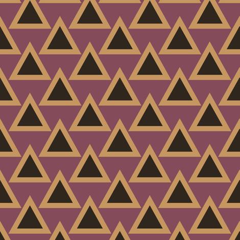 art deco triangle 2 fabric by anniedeb on Spoonflower - custom fabric