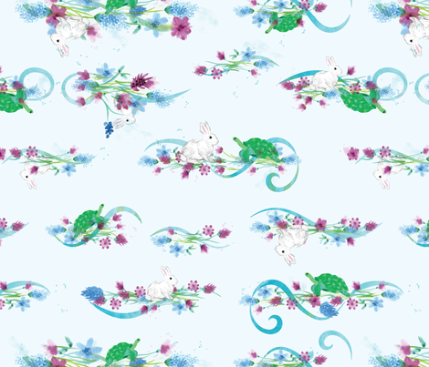 In the Garden Watercolor fabric by yourfriendamy on Spoonflower - custom fabric