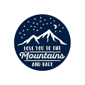 """9.33"""" love you to the mountains and back C18BS"""