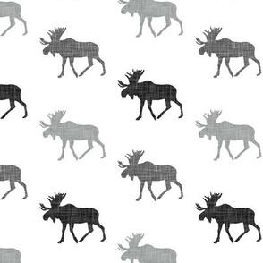 monochrome moose
