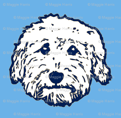 Doodle dogs! Goldendoodle or Labradoodle fabric! Adorable