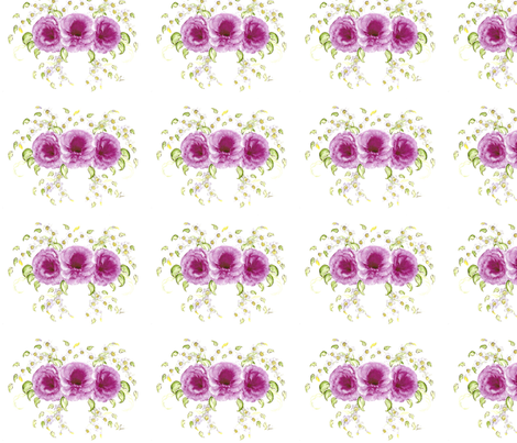 Roses and Forget-me-nots fabric by lissikaplan on Spoonflower - custom fabric