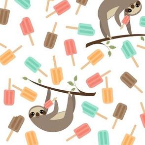 Summer Sloths Mint & Coral