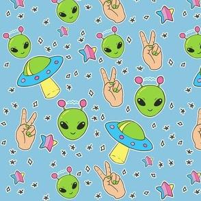 Aliens on Blue