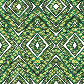 TRIBAL LEAF GREEN 2