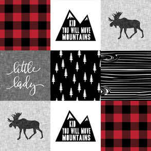 Little Lady / Kid you will move mountains - buffalo plaid