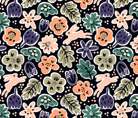 Hare and Tortoise fabric by janetdrummond on Spoonflower - custom fabric