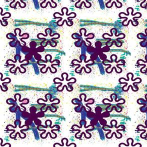 Purple crazy color White background splatter