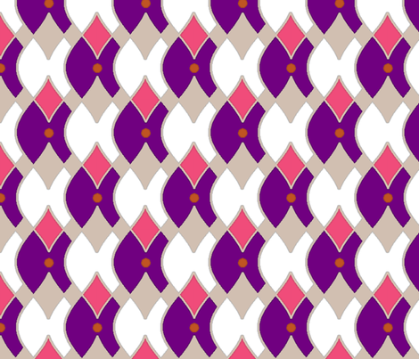 Fitting In (large) by Fireflower fabric by fireflower on Spoonflower - custom fabric