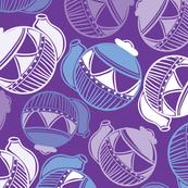Purple Garden Tea Party Pattern