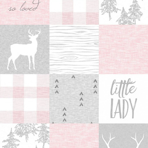 So Loved, Little Lady - pale pink, grey and white