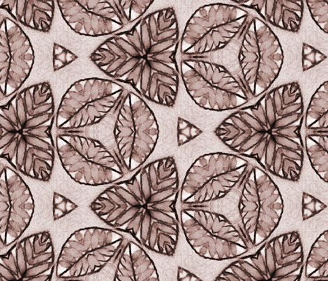 Monochrome Triangular Flora And Fauna Pattern fabric by jendesignz on Spoonflower - custom fabric