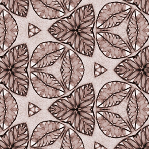 Monochrome Triangular Autumn Flora And Fauna Pattern