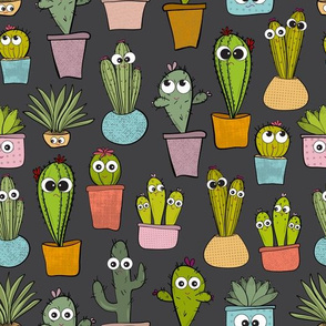 Happy Cacti, Sad Cacti in Grey