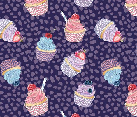 muffins violet fabric by daria_krawczyk on Spoonflower - custom fabric