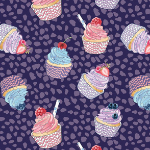 muffins violet