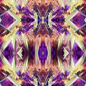GF11 - Medium - Galactic Fantasy in Purple - Brown - Coral - Green