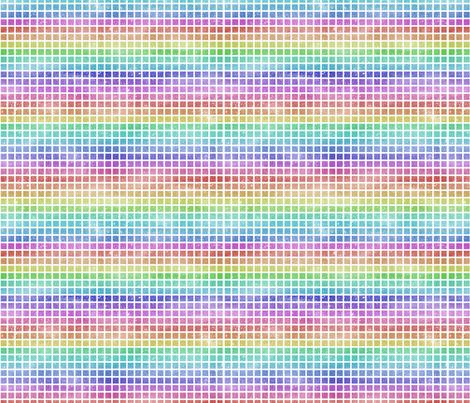 Rainbow Grid fabric by emeryallardsmith on Spoonflower - custom fabric