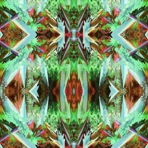 GF10 -  Mini Alien Fantasy in brown, coral, aqua and green