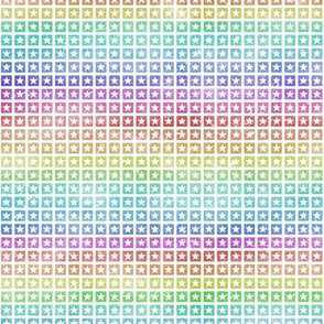 Rainbow star grid