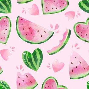 watermelon in pink