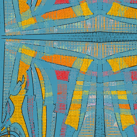 Rogue Burlap (Turquoise) fabric by david_kent_collections on Spoonflower - custom fabric