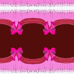 queen dress pink bows dolls clothes