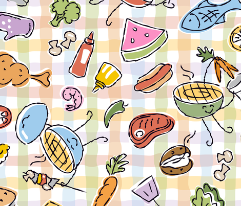Grill Giggles fabric by margodepaulis on Spoonflower - custom fabric