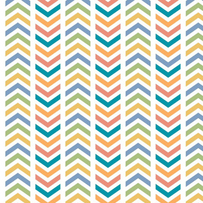 Comfy Broken Chevron Colorful