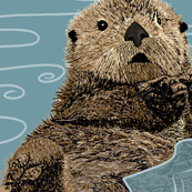 Otters twice the size