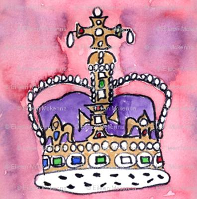 Purple Royal Crown on Pink